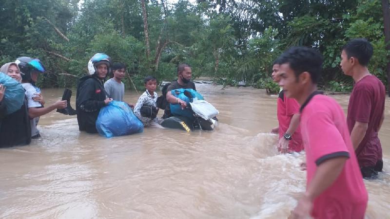 8 Kecamatan di Aceh Selatan Terendam Banjir