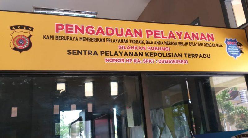 Pelayanan SPKT Polda Aceh Untuk Masyarakat