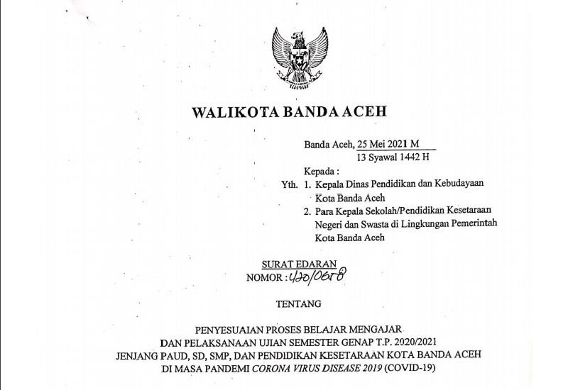 Mulai 27 Mei Proses Belajar Di Banda Aceh Terapkan Kembali Sistem Daring Dialeksis Dialetika Dan Analisis