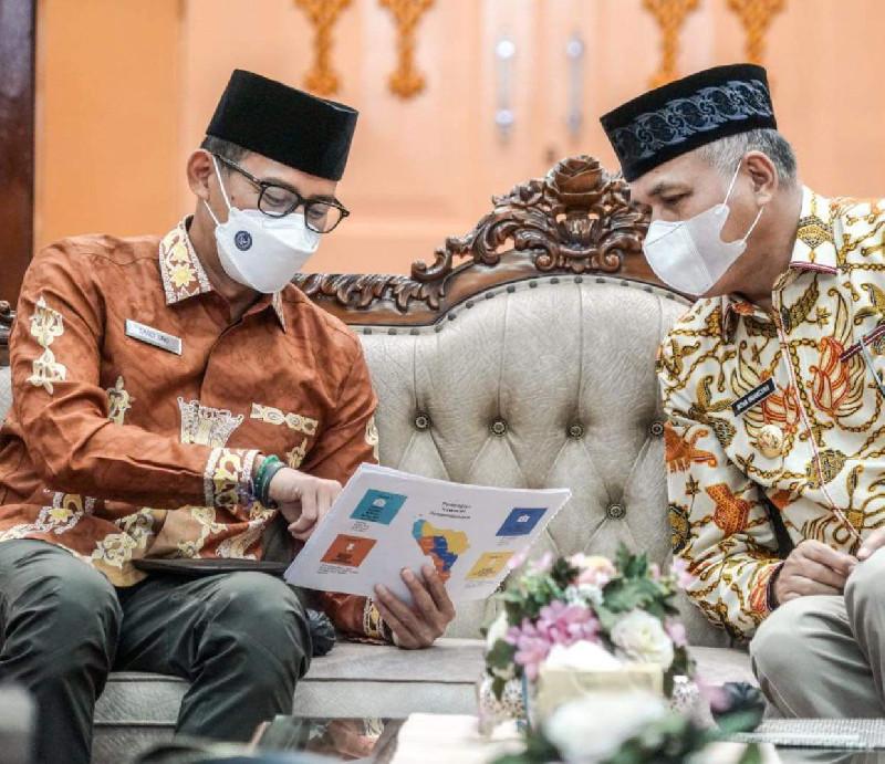 Menparekraf dan Pemerintah Aceh Kolaborasi Kejar Investasi 1 Milyar dari UEA