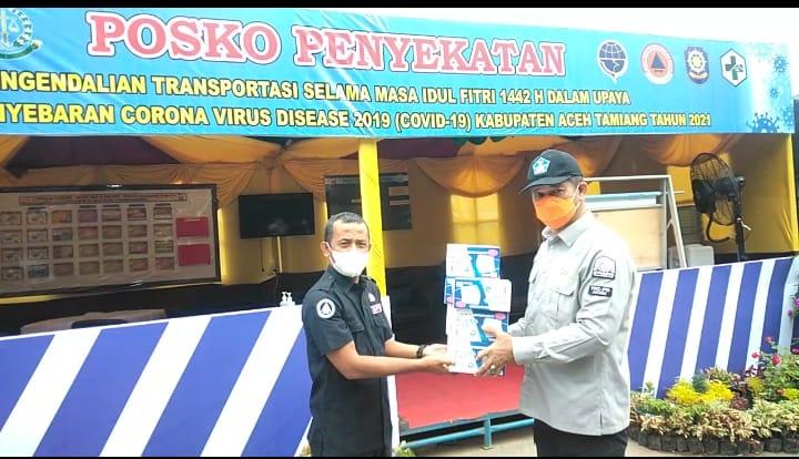 Jelang Lebaran, Kalak BPBA Tinjau Pos Perbatasan Aceh