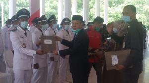 Bupati Aceh Tamiang Lantik 71 Datok Penghulu Terpilih, 1 Orang Absen karena Positif Covid-19
