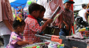 Penjualan Senjata Mainan di Aceh Tamiang Meningkat Selama Lebaran