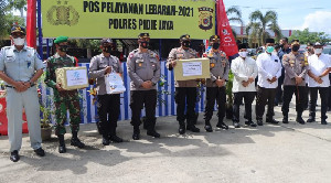 Kapolda Aceh Tinjau Pos Pam Lebaran di Pide Jaya