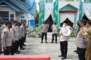 Bupati Aceh Besar Tinjau Pos Pengamanan Lebaran