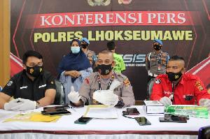 Warga Lhokseumawe Ditangkap Polisi Karena Edarkan Sabu Setengah Kilogram