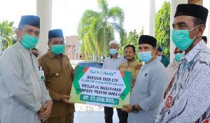 Bupati Aceh Barat Salurkan Dana CSR Bank Aceh Syariah
