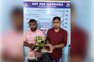Polisi Gagalkan Peredaran 1,01 Kg Sabu di Lhoksukon, Dua Tersangka ditangkap