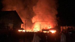 Kebakaran Hebat di Bener Meriah, 11 Ruko Dilahap Api