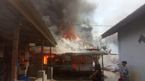 13 Rumah Terbakar di Kuta Cane, Aceh Tenggara