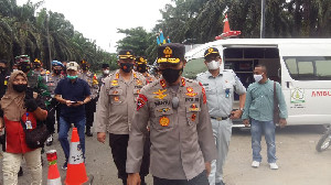 Kapolda Aceh Tinjau Posko Penyekatan Perbatasan Aceh-Sumut
