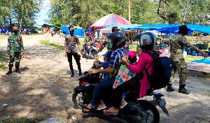 Libur Lebaran, Personel Gabungan Laksanakan Sosialisasi Prokes di Lokasi Wisata