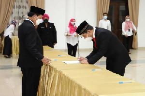 Taufiq A Gani Dilantik Jadi Kepala Pusat Data dan Informasi Perpusnas