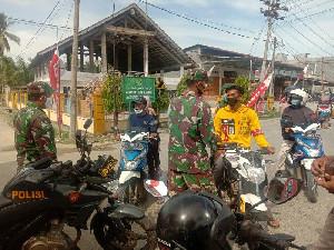 TNI-Polri Lakukan Sekat Pengunjung Objek Wisata di Aceh Timur