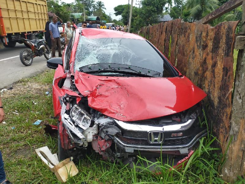 Jazz Tabrak Vario, Kecelakaan di Aceh Timur Tewaskan Satu Keluarga