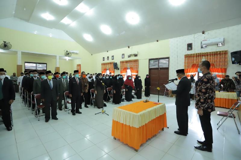 Mantan Kadis Pertanian Dilantik Jadi Sekretaris Dinas Pertanahan Aceh Tamiang