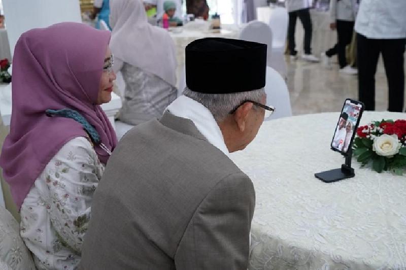 Silaturahmi Daring, Jokowi ke Ma'ruf Amin:  Curhat Lebaran Tak Ditemani Anak