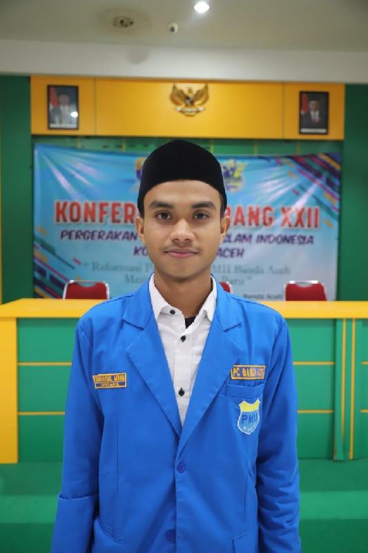 Teuku Raysoel Akram Terpilih Sebagai Ketua PMII Cabang Banda Aceh