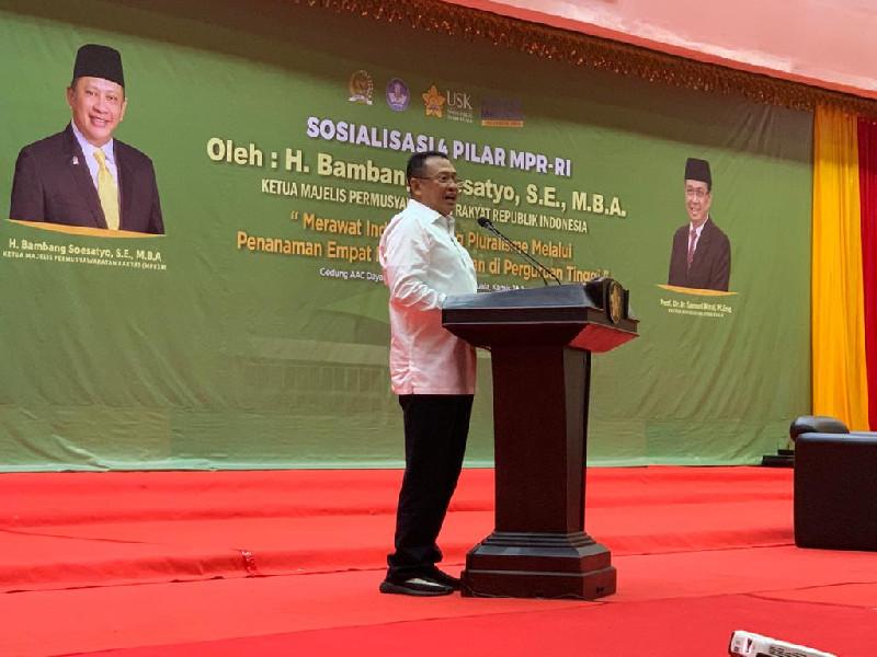 Ketua MPR RI Berikan Sosialisasi Empat Pilar Kebangsaan di USK