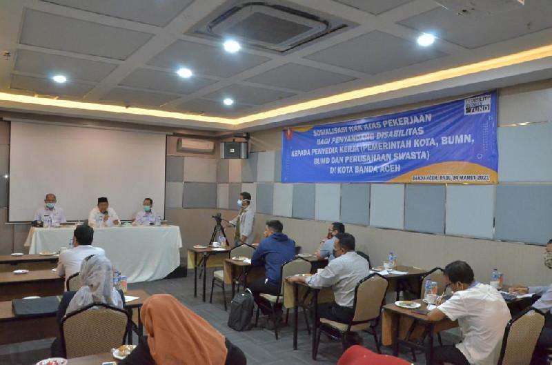 Buka Sosialisasi Hak Atas Pekerjaan Bagi Disabilitas, Chek Zainal: Mereka Punya Kemampuan