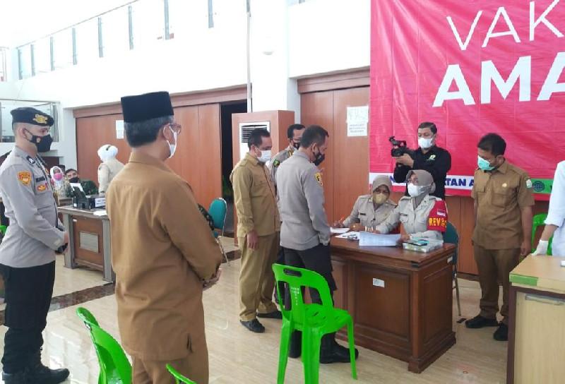 Pantau Pelaksanaan Vaksinasi Covid-19, Wakapolda Aceh Semangati Vaksinator