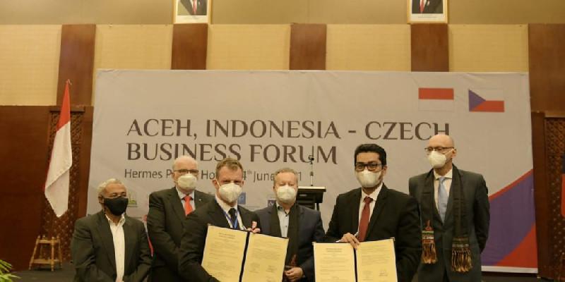 Pemerintah Aceh Buka Pintu Investasi Kepada Pengusaha Republik Ceko