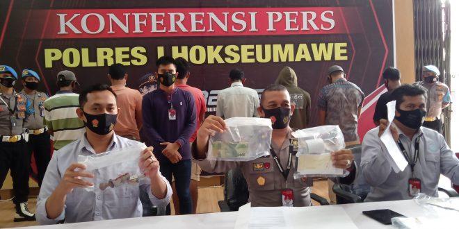Polres Lhokseumawe Gelar Konferensi Pers Penangkapan Pelaku Pungli