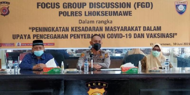 Kapolres Lhokseumawe Minta Kepada Seluruh Kepala Desa Aktifkan Posko PPKM Mikro