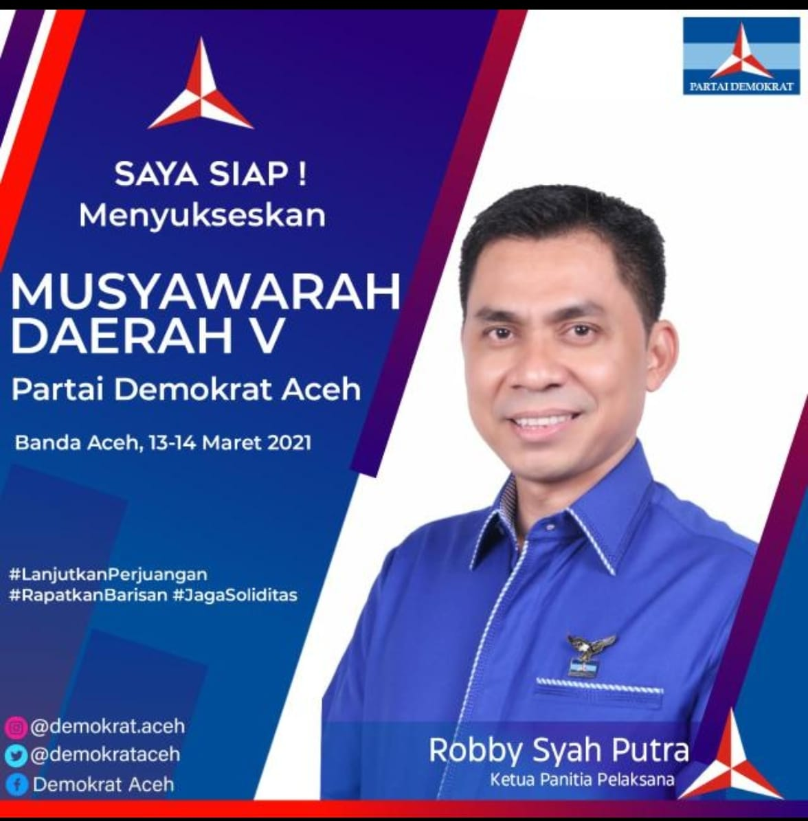 Sah, Musda Ke V Demokrat Aceh Ditunda