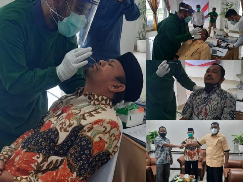 Sempat Bertemu Nova Iriansyah, Enam Ketua Parpol Aceh Beserta Jajaran Lakukan Swab Test Antigen