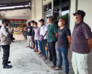 Berantas Preman, Polres Aceh Utara Amankan 7 Juru Parkir Liar
