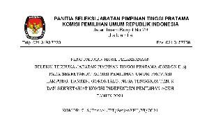 Ini Dia Nama-Nama Kandidat Sekretaris KIP Aceh