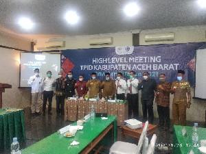 BI dan Pemkab Aceh Barat Laksanakan High Level Meeting (HLM) TPID Triwulan II 2021