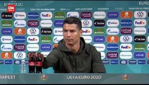VIRAL!CR7 Buat Heboh Saat Konferensi Pers Hungaria vs Portugal Euro 2020