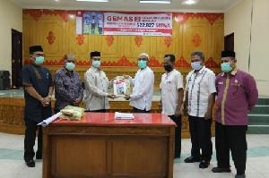 GEMAS-2, Pemerintah Aceh Distribusikan 34.901 Masker kepada Pemkab Aceh Tamiang
