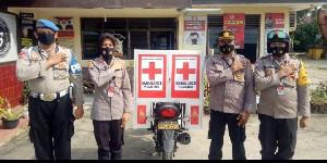 Sosialisasi Prokes,  Kendaraan Dinas Disulap Jadi Ambulan Keliling