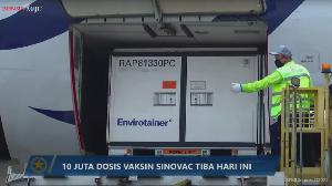 Sepuluh Juta Bahan Baku Vaksin COVID-19 Sinovac Tiba di Indonesia