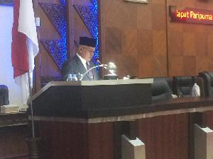 Wakilkan Nova, Taqwallah Hadiri Sidang Paripurna LKPJ 2020