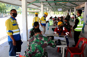 Kodim 0101/Aceh Besar Gelar Serbuan Vaksinasi Massal