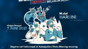 Jelang Hari ke Empat Warga Melaksanakan Vaksinasi Covid-19 di Banda Aceh Capai 1.605 Jiwa