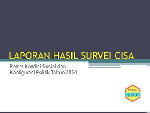 Survei CISA: Publik Puas terhadap Jokowi, Elektabilitas PDI-P Tetap Unggul, AHY dan Demokrat Semakin Lancar