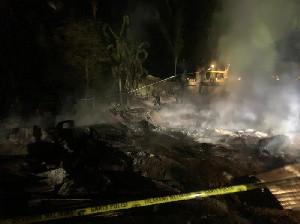 Satu Rumah Warga Terbakar Hangus, Kerugian Ditotalkan Capai Rp.150 Juta