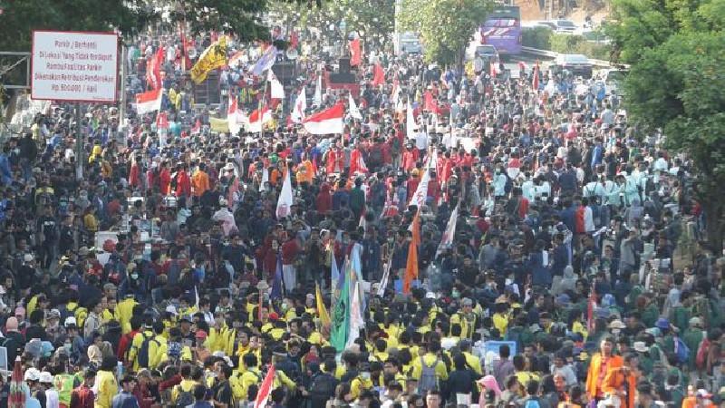 Mahasiswa Gelar Aksi Demo Tolak RKUHP
