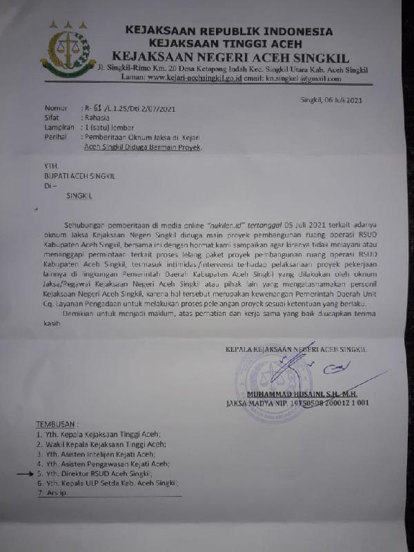 GeRAK Aceh Serius Pantau Proses Tender Paket RSUD Singkil