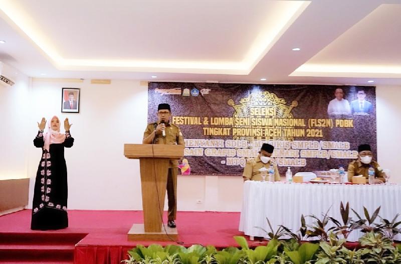 Kadisdik Aceh Buka Festival Lomba Seni untuk Siswa/I Disabilitas