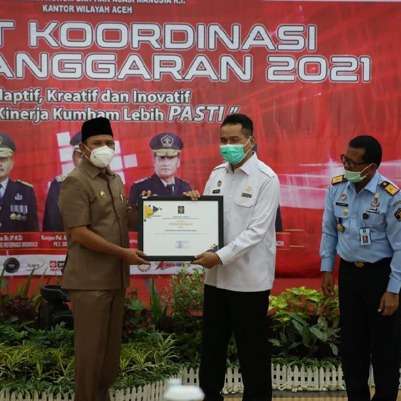 Kabupaten Aceh Besar Terima Dua Penghargaan dari Kemenkumham Aceh