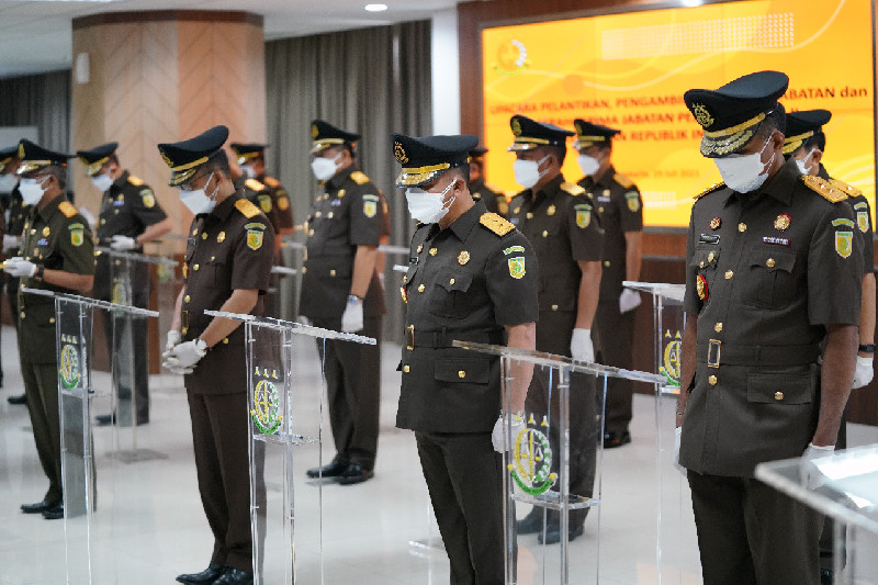 Jaksa Agung RI Melantik 23 Pejabat Untuk Posisi Jabatan Pejabat Eselon II