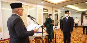 Resmi, Sekda Taqwallah Melantik Azhari Jadi Kepala BPKA