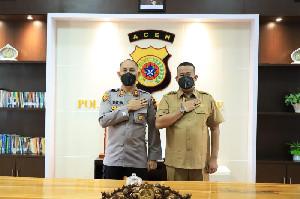 Perdana Pasca Dilantik, Chaidir Silaturahmi Dengan Kapolres Lhokseumawe