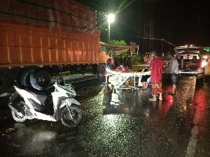 Dua Remaja Tewas ditempat Usai Tabrak Truk Fuso di Aceh Timur, Begini Kronologisnya